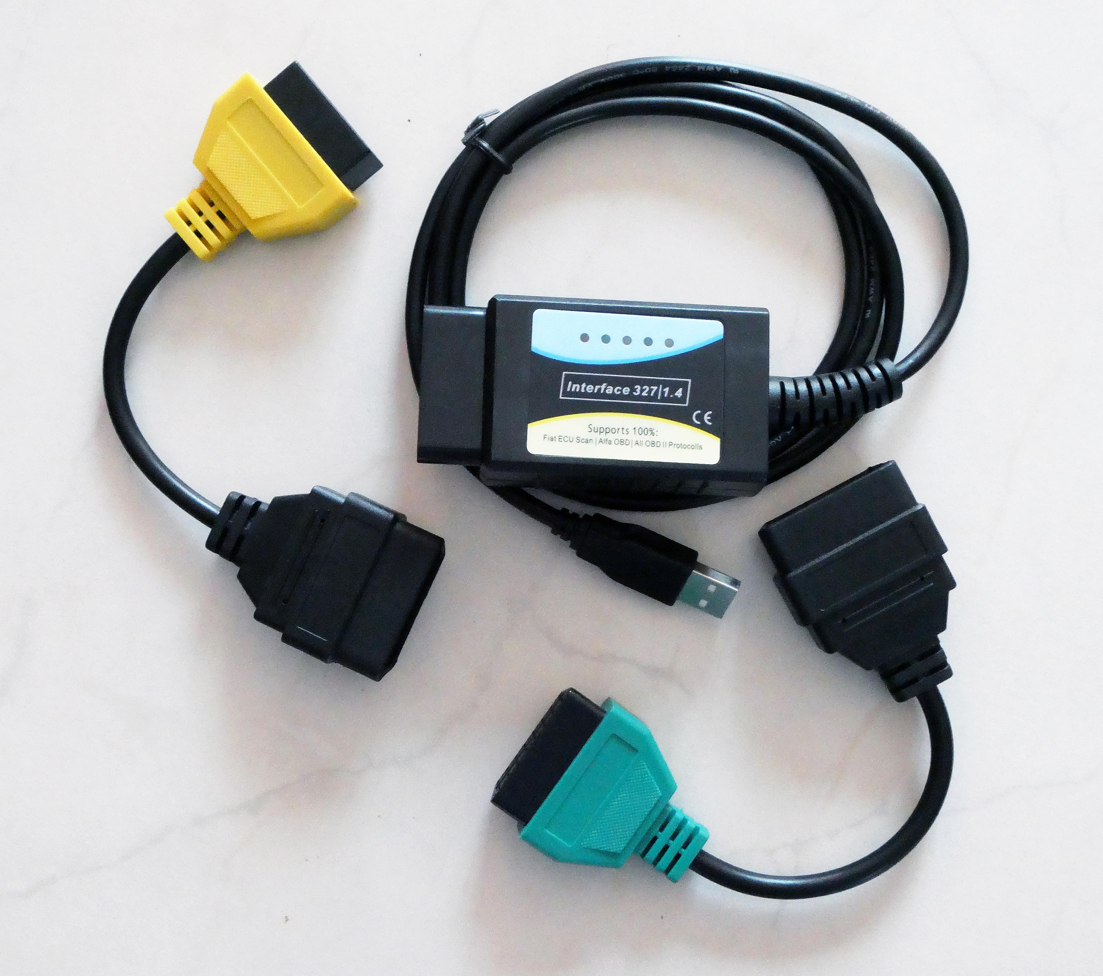 OBD2-Adapter mit Kabeln