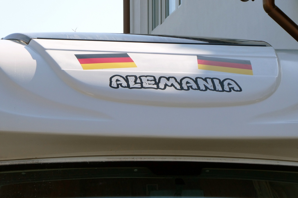 Aufkleber Alemania Wohnmobil vorne