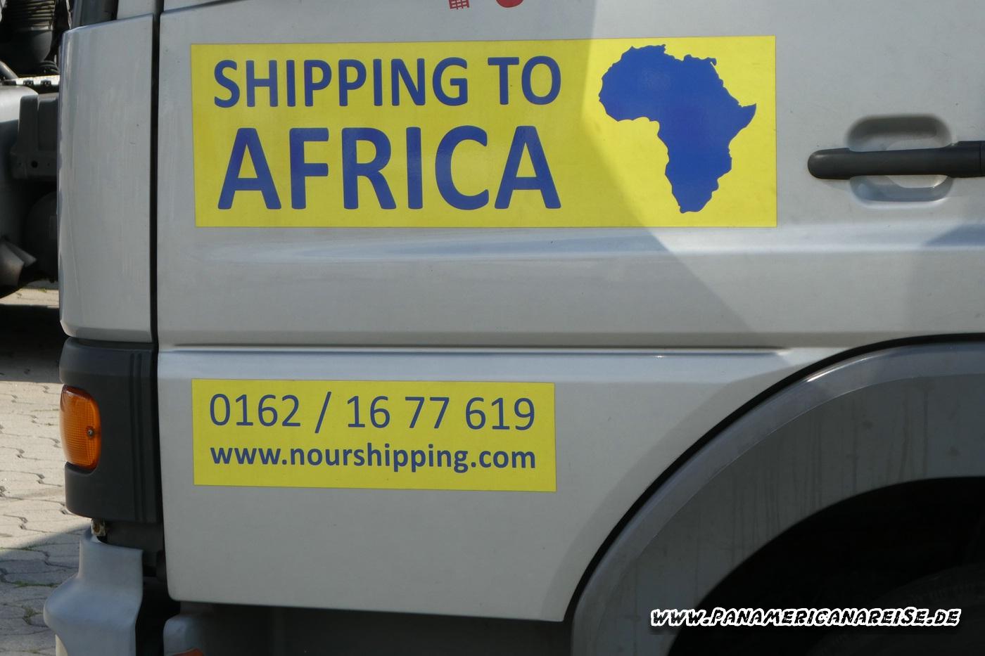 Schrott für Afrika Verschiffung Südamerika RoRo