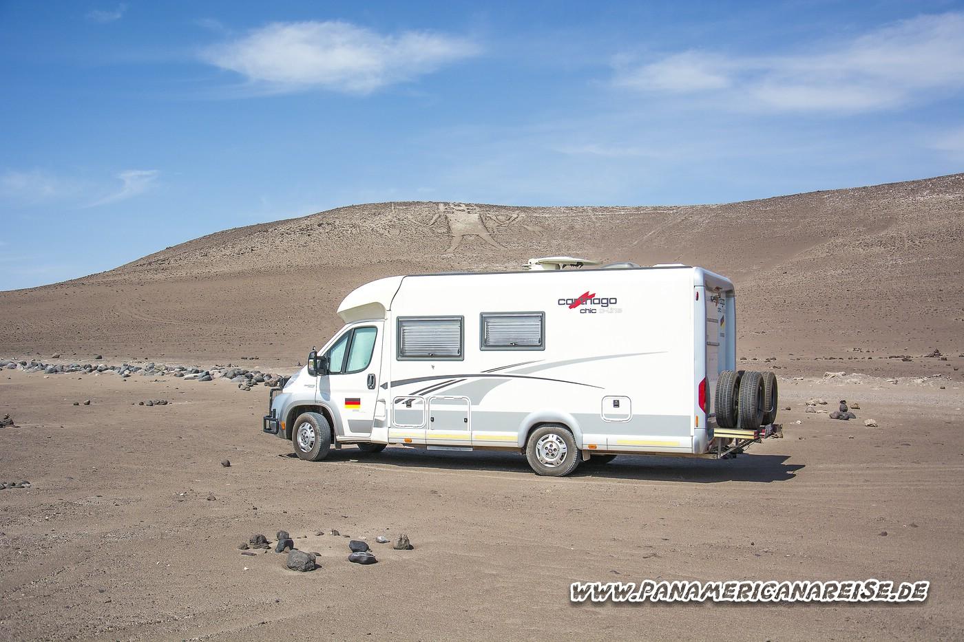 Atacama Wüste Weltreise Carthago Chile Stellplatz Gigante de Atacama