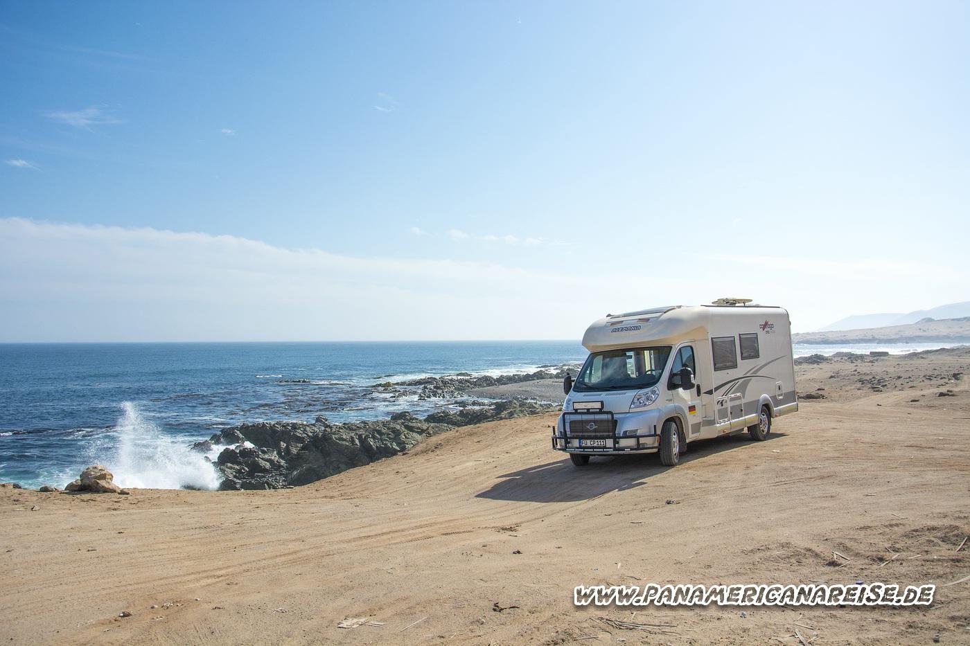 Küste Peru Stellplatz Carthago Weltreise