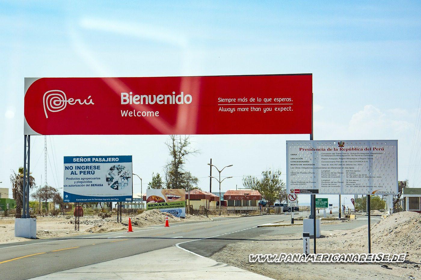 Einreise nach Peru Wohnmobil Weltreise Carthago