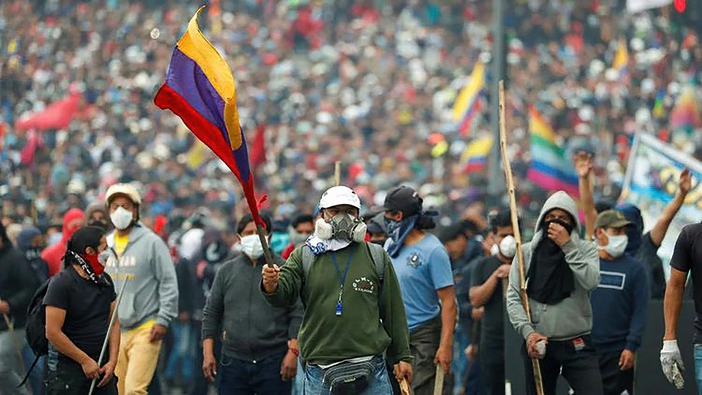 Ecuador Streik wegen Spritpreiserhöhung