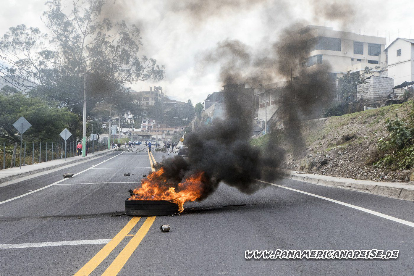 Ecuador Generalstreik Straßenblockaden Ibarra